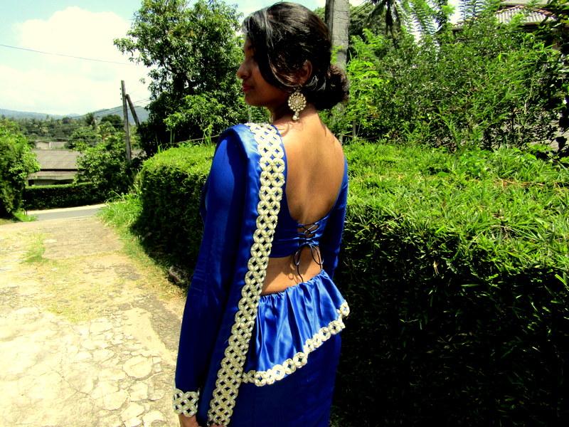 blue kandyan saree- osari- osaree-cord jacket