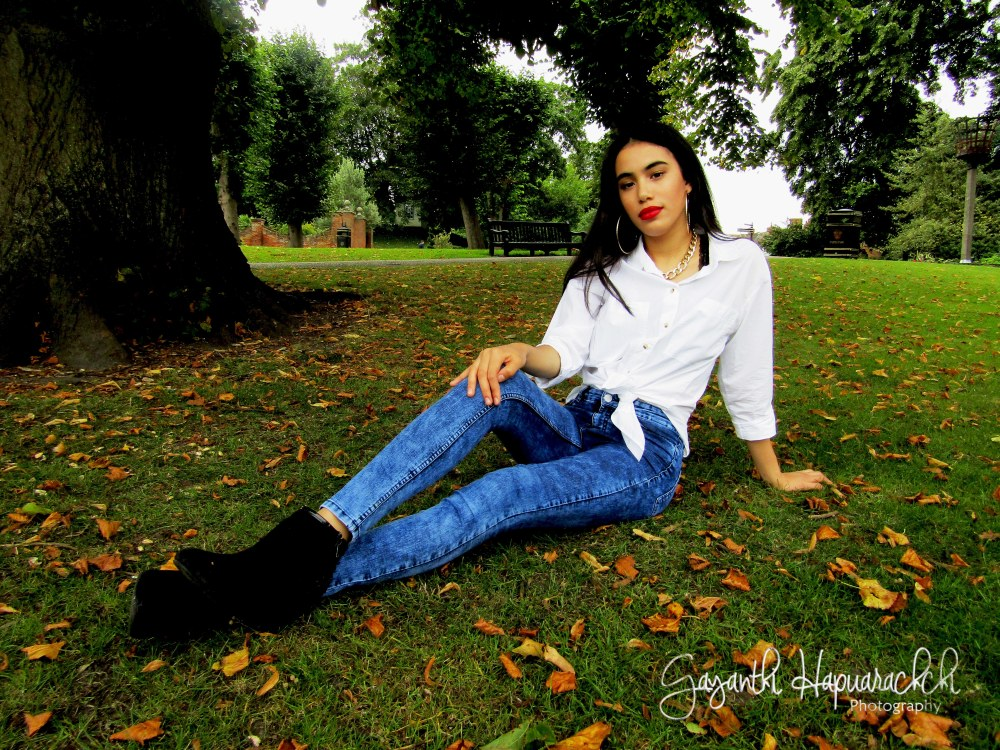 Selena-Quintanilla-modern-look-white-shirt